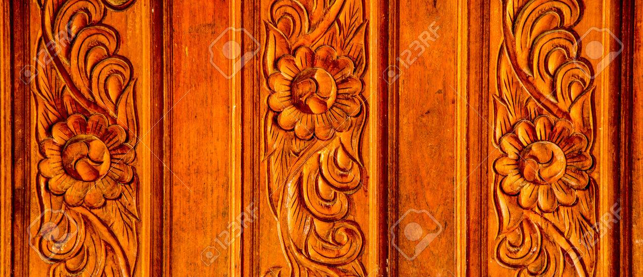 Wood Carving Holes Through Flowers Stock Photo Picture And Royalty