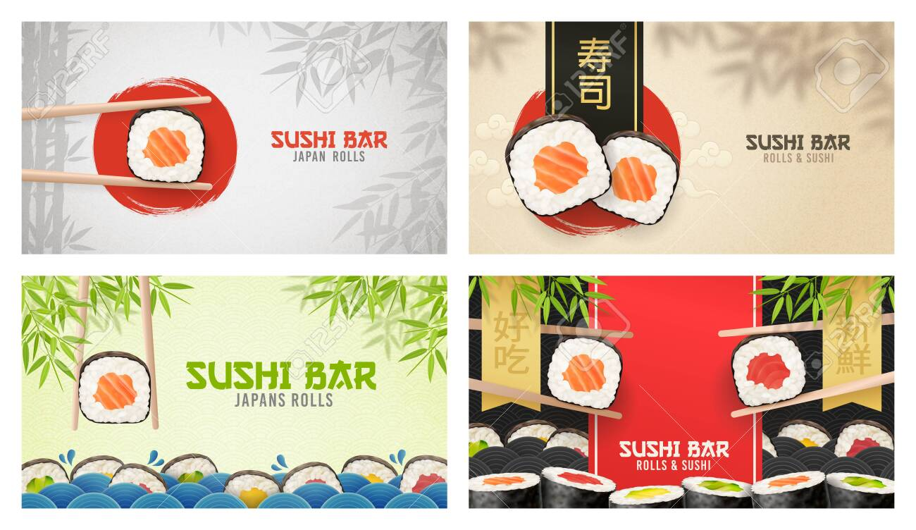 Asian Food Poster Sushi Ads Poster Of Sushi Restaurant Vertical Flyer Realistic Vector Illustration Translation Sushi Bar Fotos Retratos Imagenes Y Fotografia De Archivo Libres De Derecho Image 151506085
