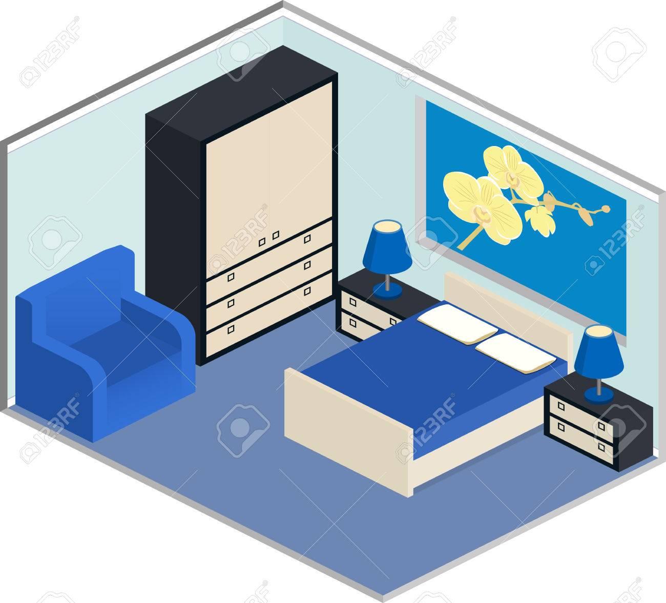 modernes interieur design farben, modernes design der gemütlichen schlafzimmer mit möbeln. interior in, Design ideen