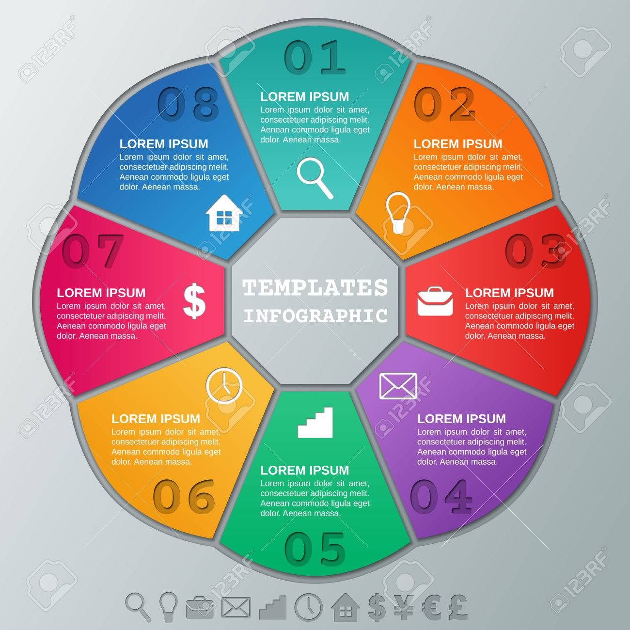Infographics Timeline. Circular Template Infographic. Graphics ...