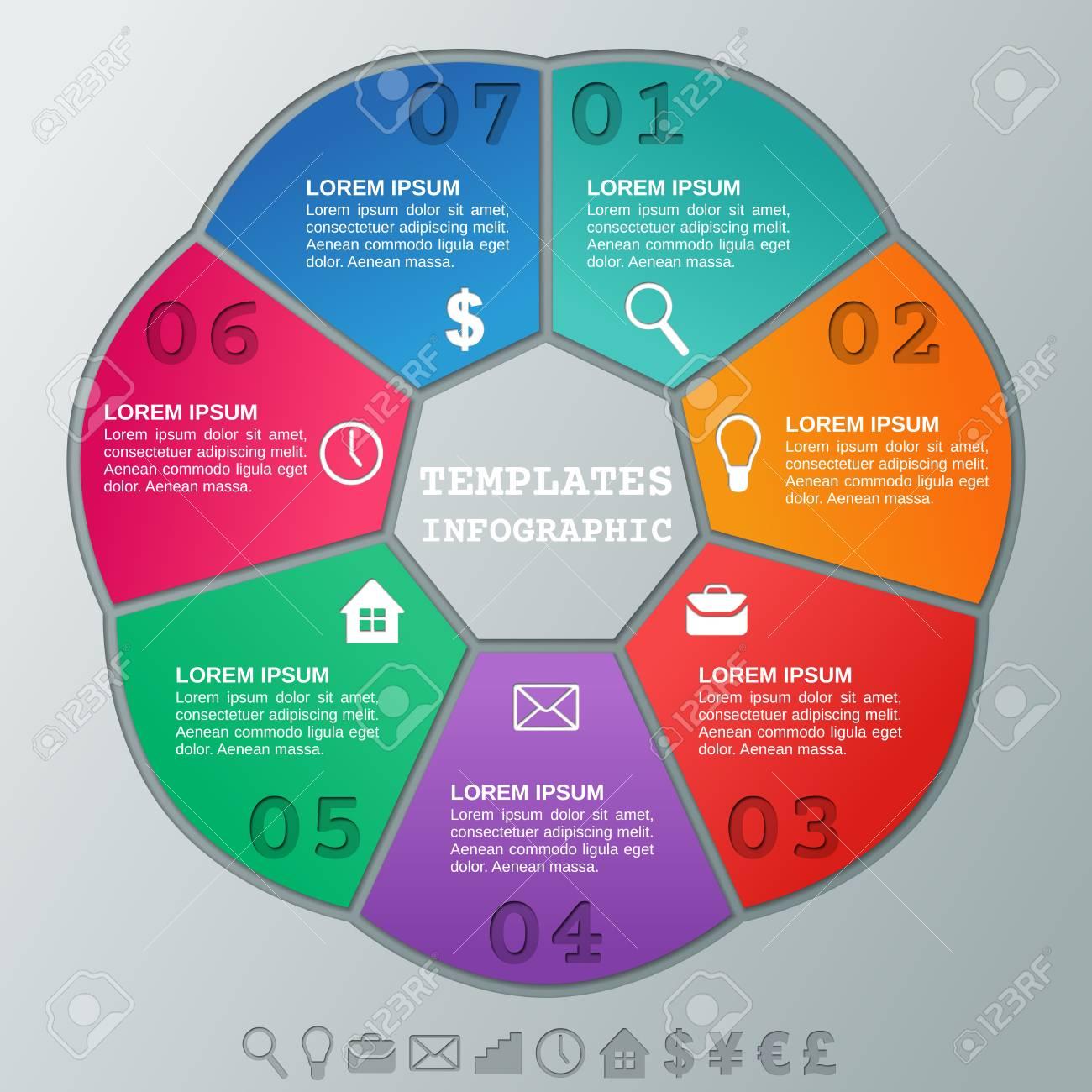 Elementos De Infografía Plantilla Circular Infografía. Marcos De ...