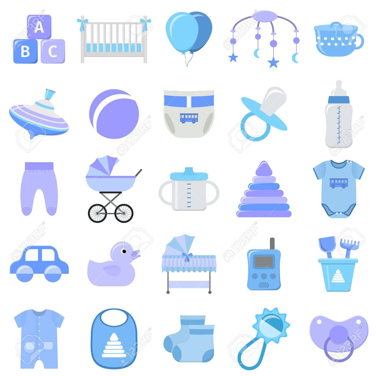 Baby boy icons set vector baby shower blue symbols isolated baby boy icons set vector baby shower blue symbols isolated on white background buycottarizona Gallery
