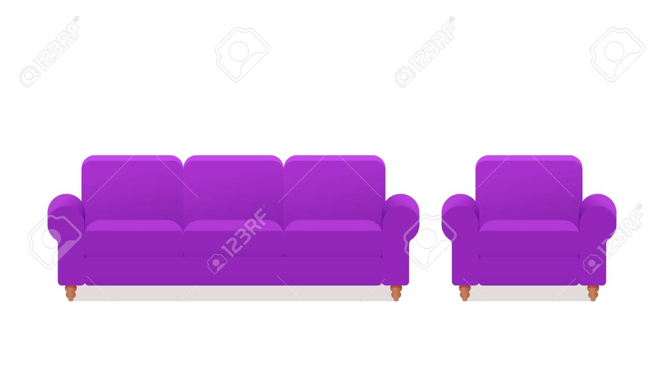 sofa couch armchair icon vector furniture in flat design rh 123rf com animation software online animation software