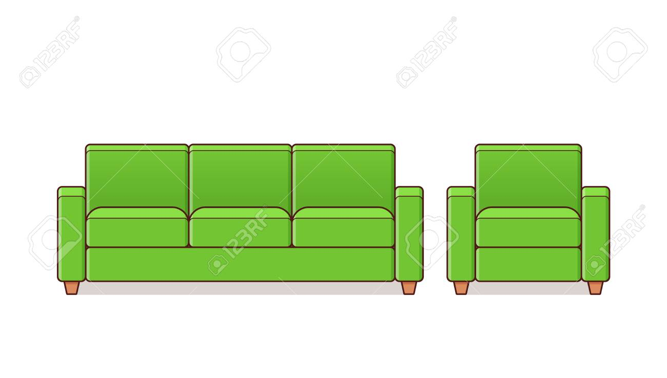 Remarkable Sofa Couch Armchair Linear Icon Vector Outline Furniture Bralicious Painted Fabric Chair Ideas Braliciousco