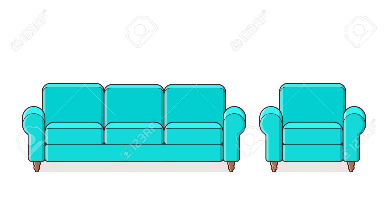 Super Sofa Couch Armchair Linear Icon Vector Outline Furniture Bralicious Painted Fabric Chair Ideas Braliciousco