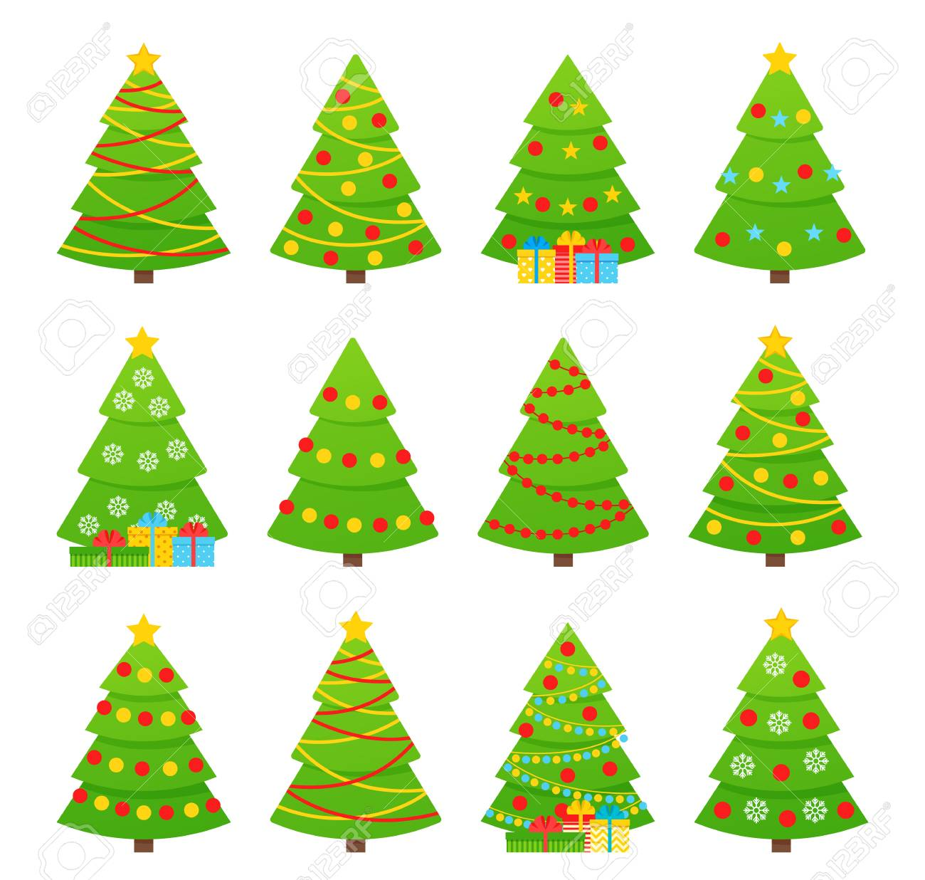 Christmas Tree Vector Tree Icon In Flat Design Xmas Cartoon Royalty Free Cliparts Vectors And Stock Illustration Image 127459241 All free download vector graphic image from category cartoon. christmas tree vector tree icon in flat design xmas cartoon