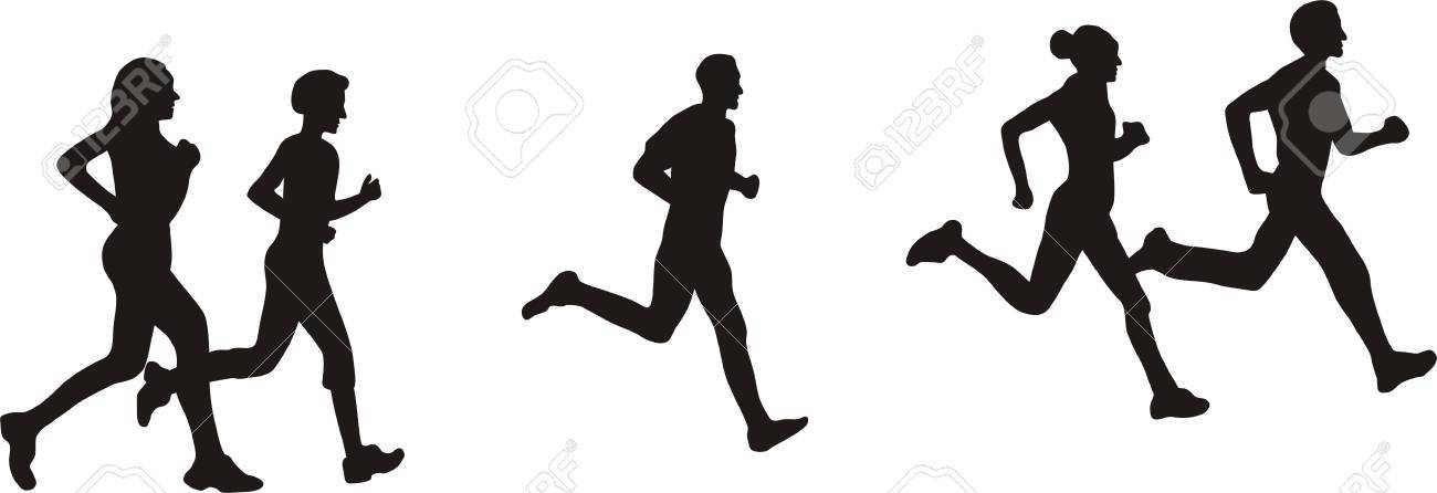 running with friends Stock Vector - 15628721
