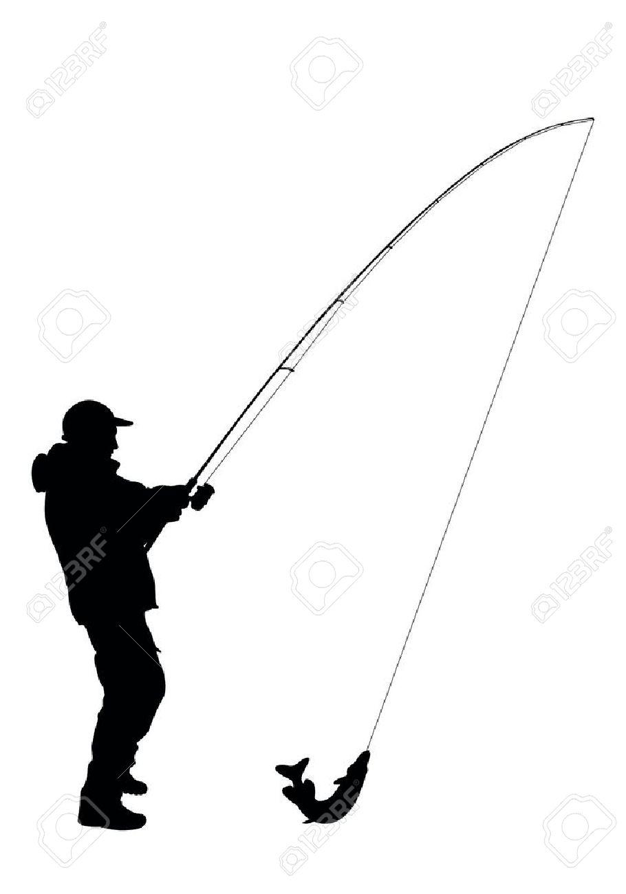 Illustration - fisherman vector Stock Vector - 11660209