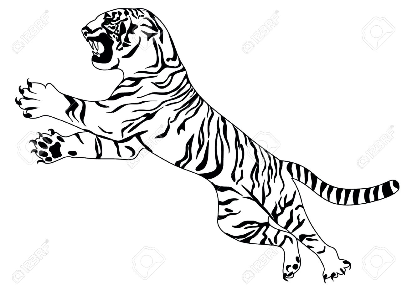 Tiger Black And White Tattoo tiger  tiger  tattoo  bengal