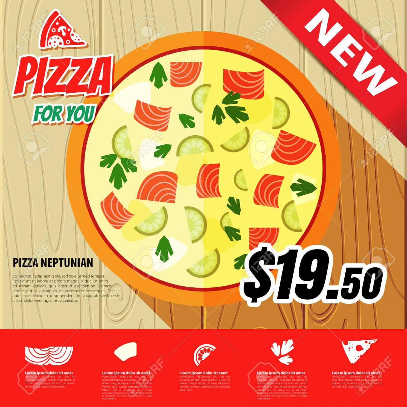 Vector Estilo Plano Pizza Infografia Con La Comida Rapida