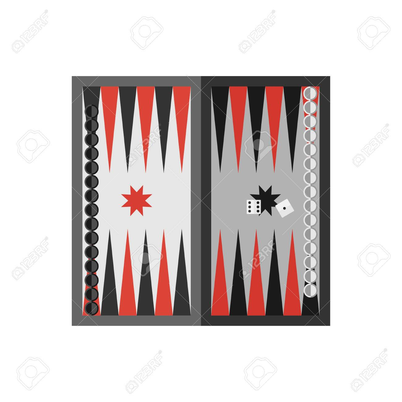 Simple table free other icons - Vector Vector Flat Simple Backgammon Table With Dices Icon Sport Illustration