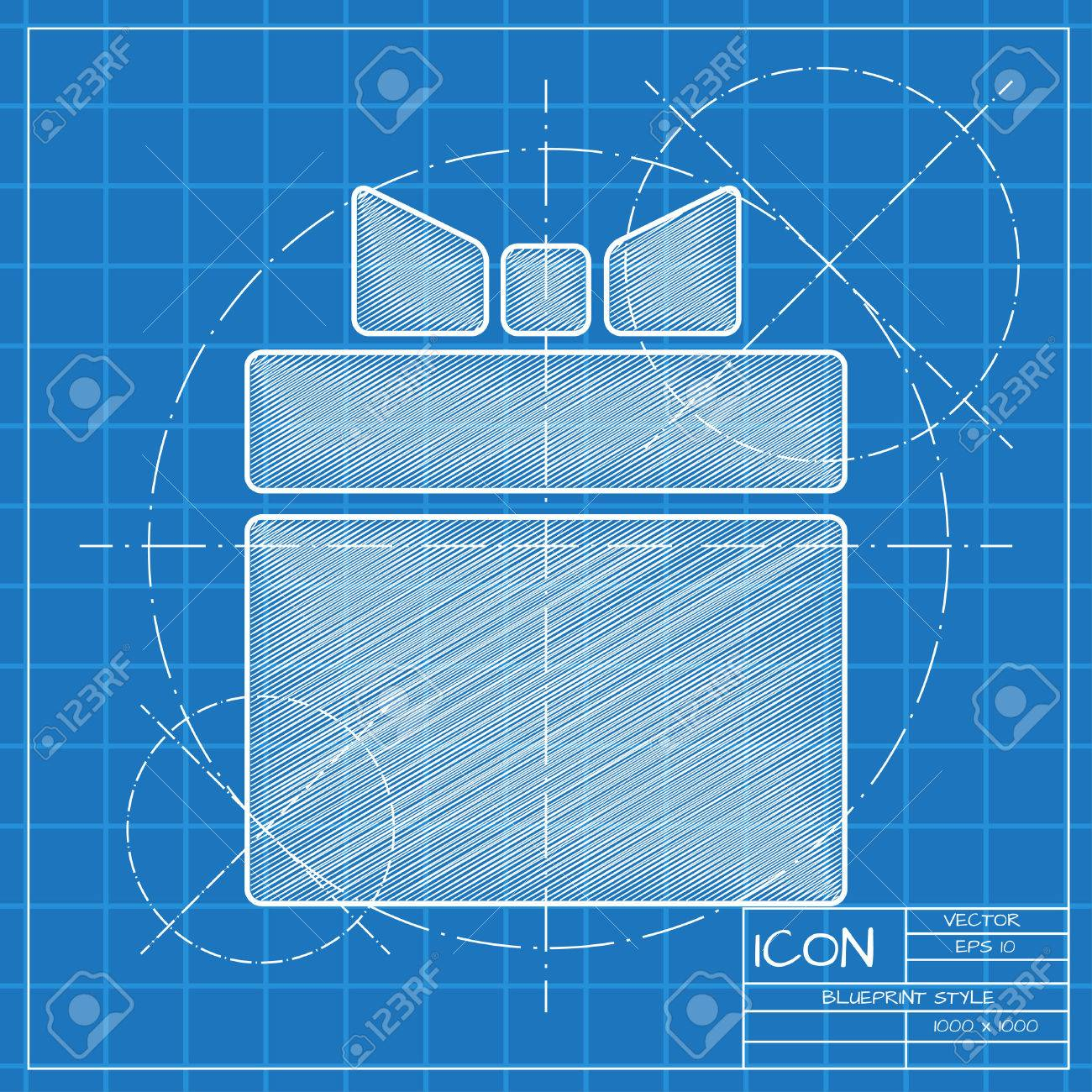 Vector blueprint gift box icon engineer and architect background vector blueprint gift box icon engineer and architect background stock vector 45425324 malvernweather Gallery
