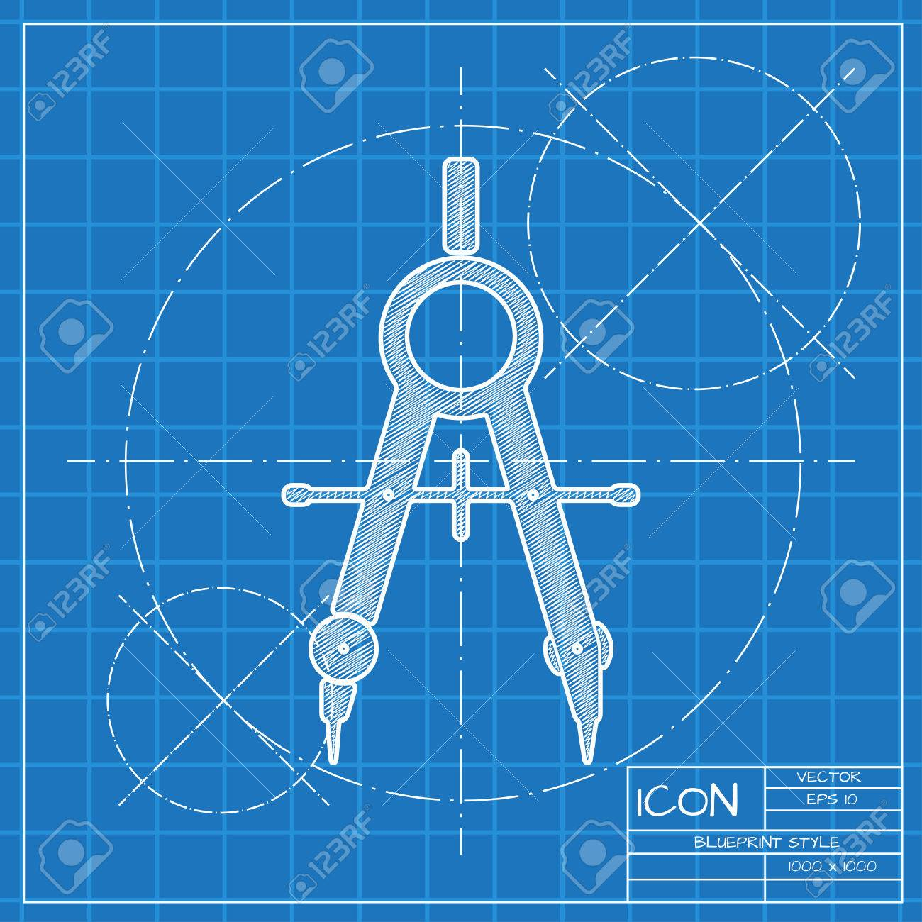 Vector blueprint compasses icon engineer and architect background vector vector blueprint compasses icon engineer and architect background malvernweather Image collections