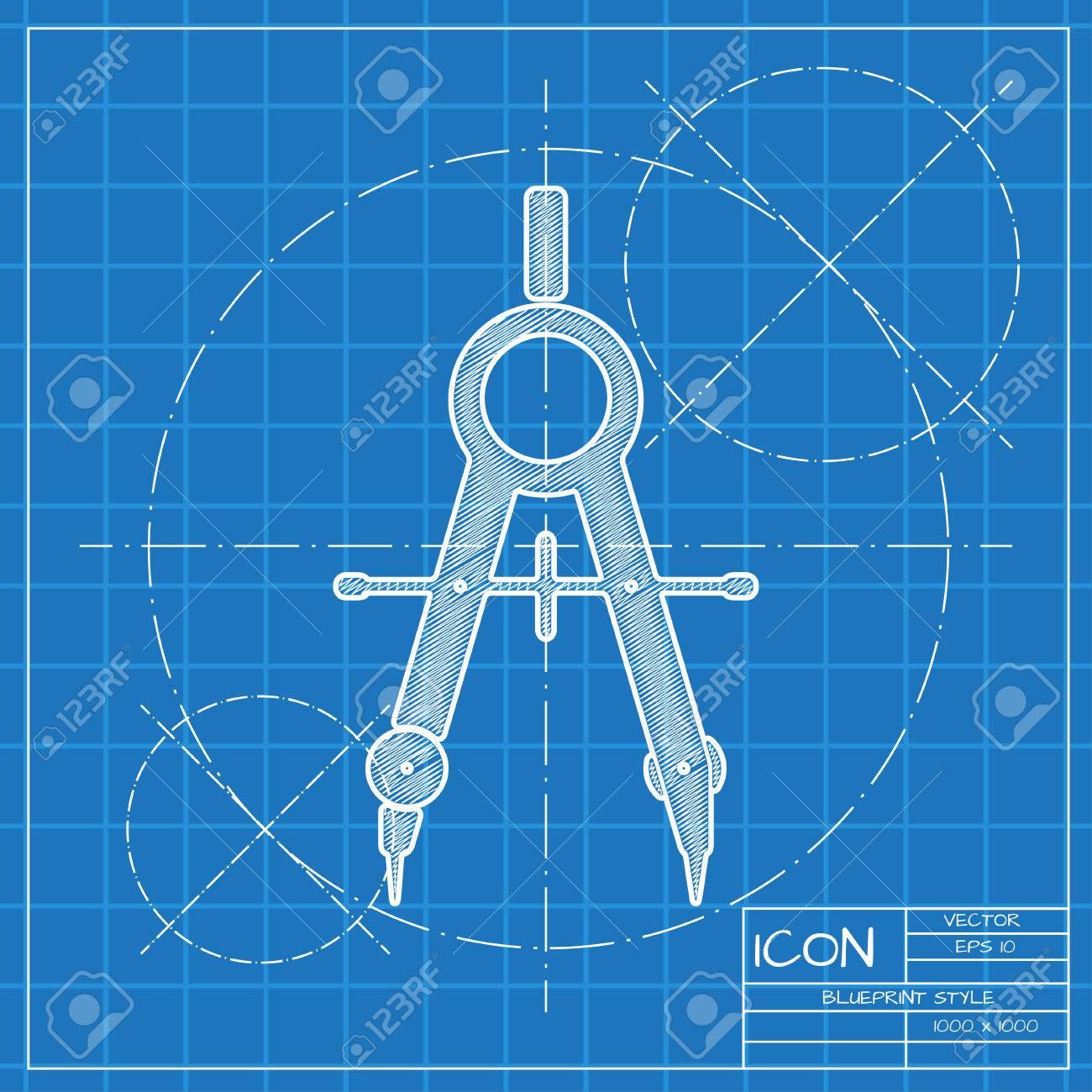 Vector brjulas blueprint icono ingeniero y arquitecto fondo foto de archivo vector brjulas blueprint icono ingeniero y arquitecto fondo malvernweather Image collections