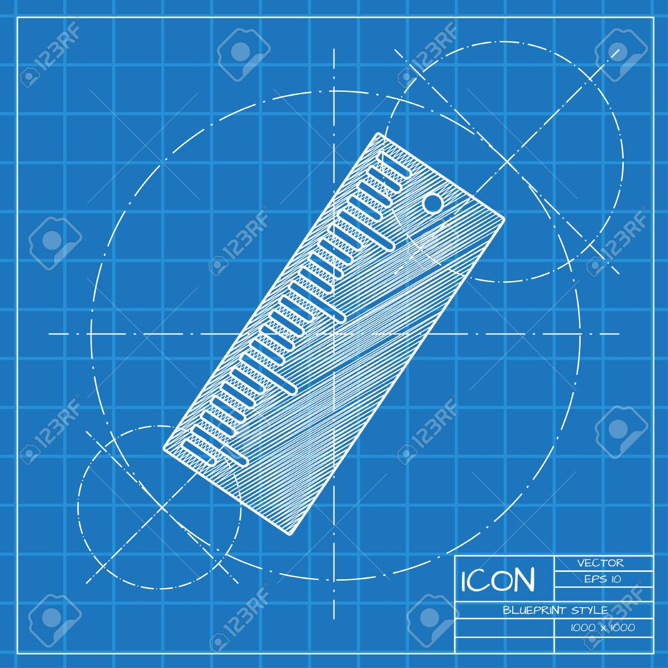 Vector blueprint ruler icon engineer and architect background vector vector blueprint ruler icon engineer and architect background malvernweather Gallery
