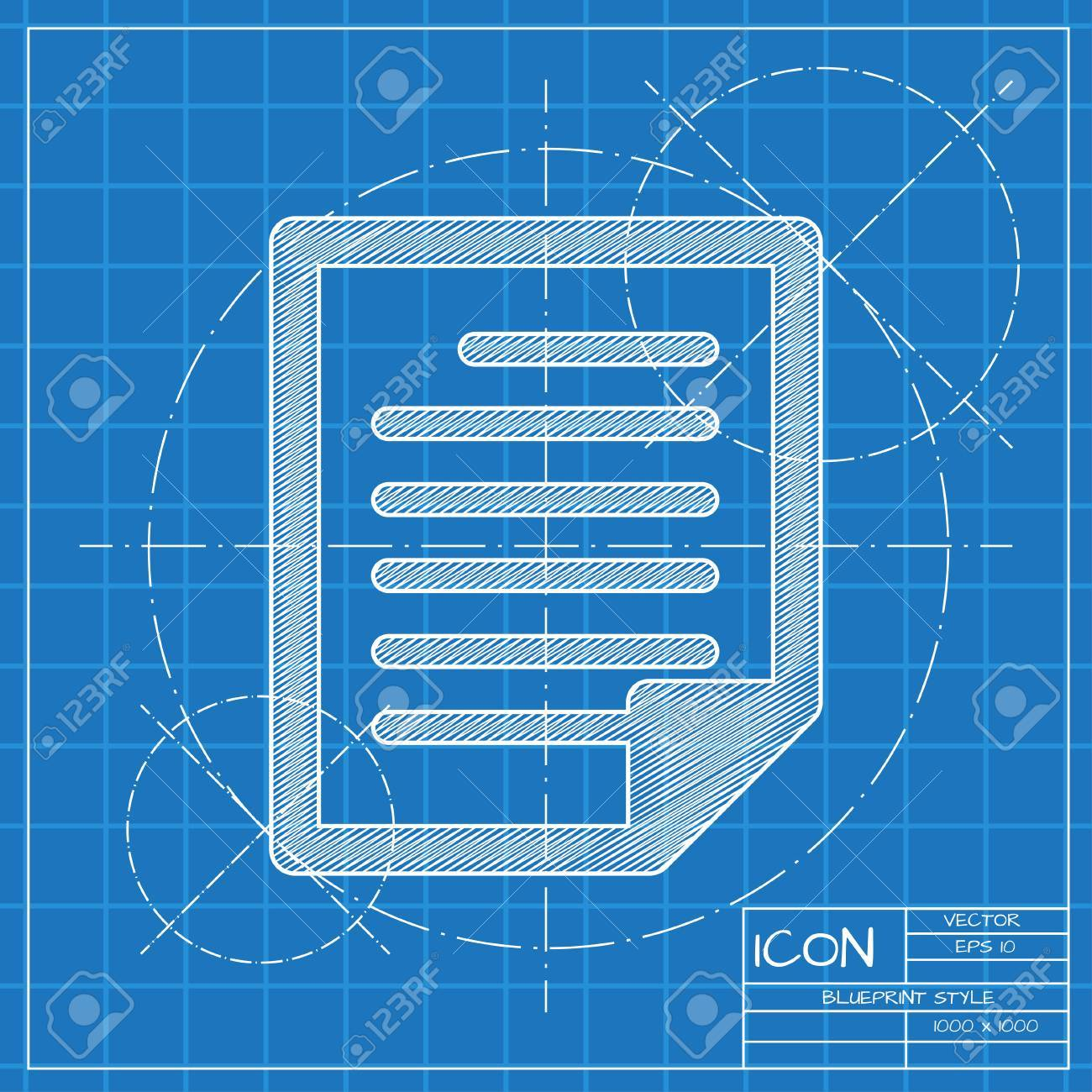 Vector blueprint document icon engineer and architect background vector vector blueprint document icon engineer and architect background malvernweather Images