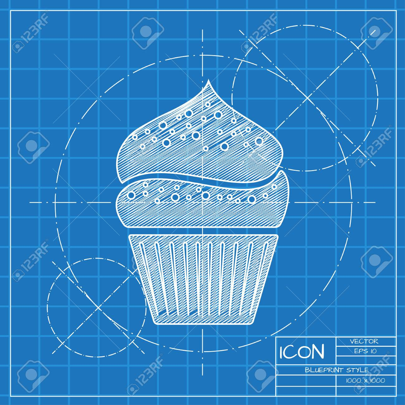 Beste blaupausen tutorial lesen ideen schaltplan serie circuit vector blueprint cupcake icon engineer and architect background malvernweather Image collections