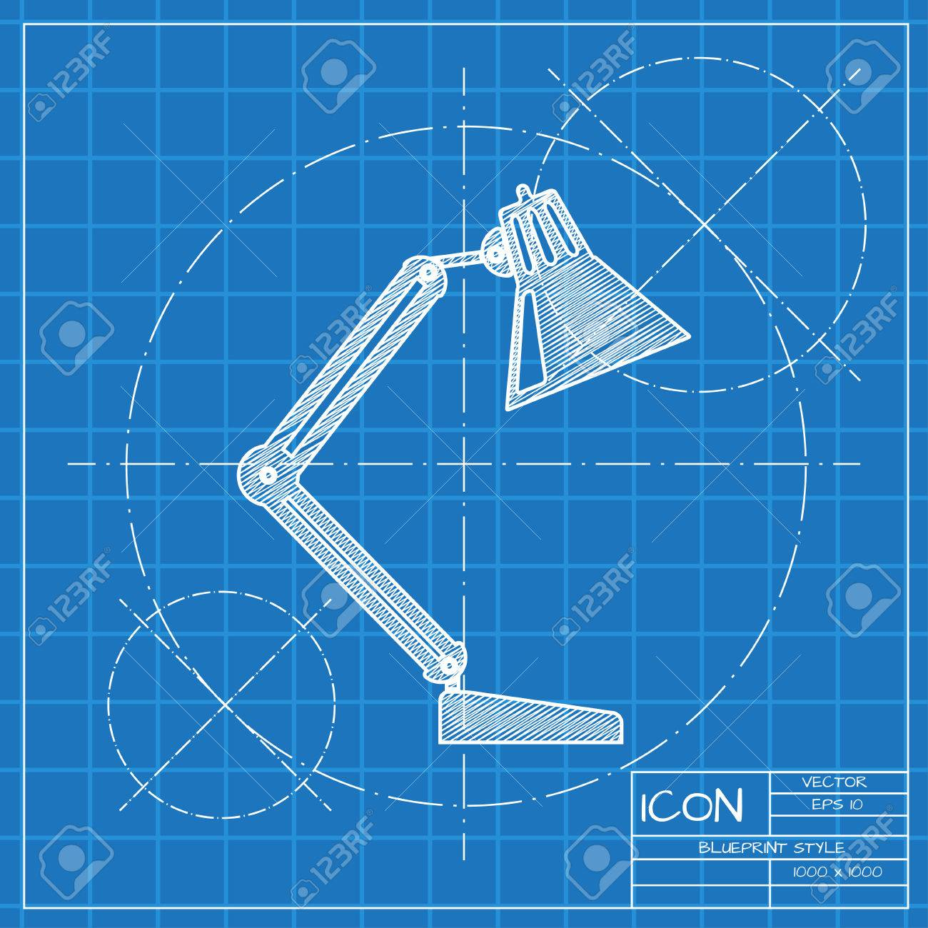 Vector blueprint table lamp icon engineer and architect background vector blueprint table lamp icon engineer and architect background stock vector 45426497 malvernweather Gallery