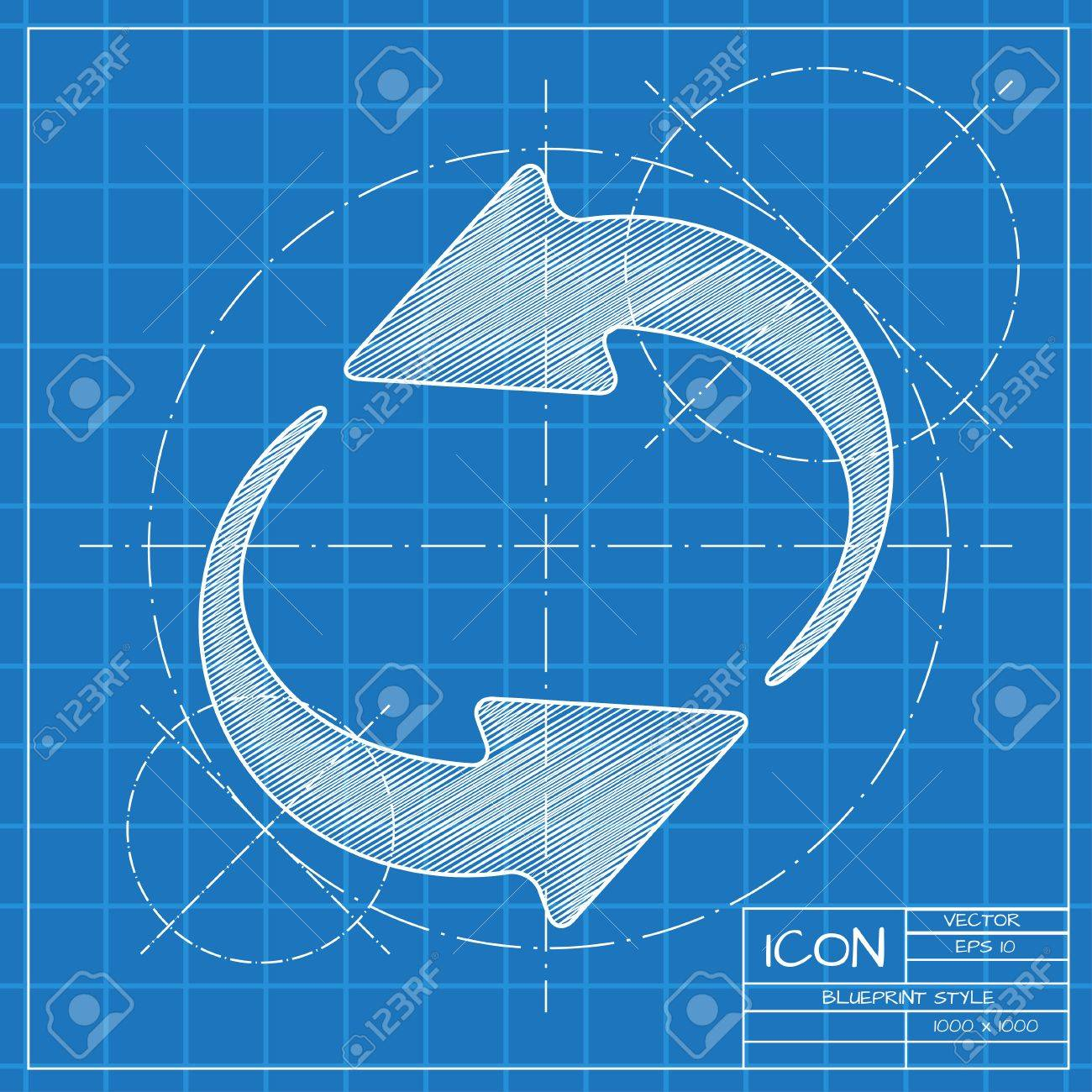 Vector blueprint circle round arrows for business diagram on vector blueprint circle round arrows for business diagram on engineer or architect background foto malvernweather Gallery