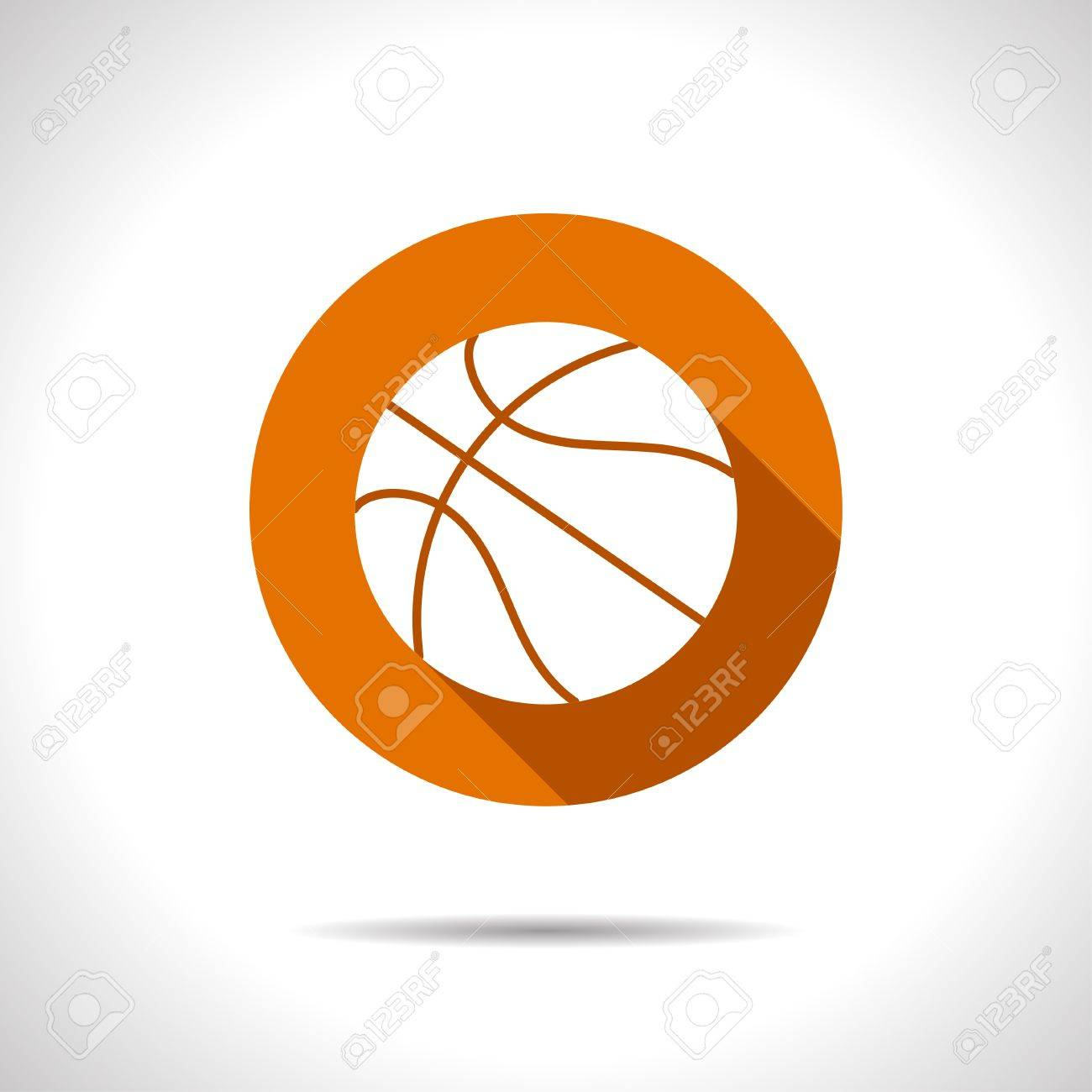 vector flat basketball icon on color circle royalty free cliparts