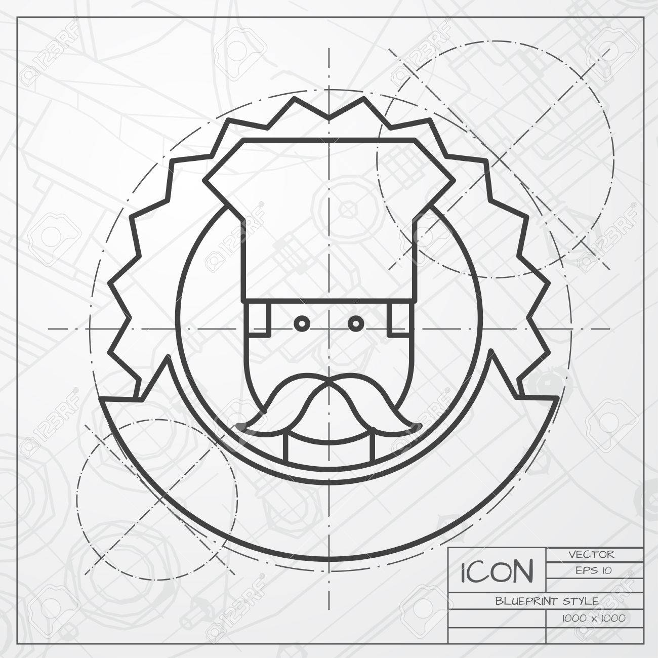 Vector classic blueprint of chef cook chois emblem icon on engineer vector vector classic blueprint of chef cook chois emblem icon on engineer and architect background malvernweather Gallery