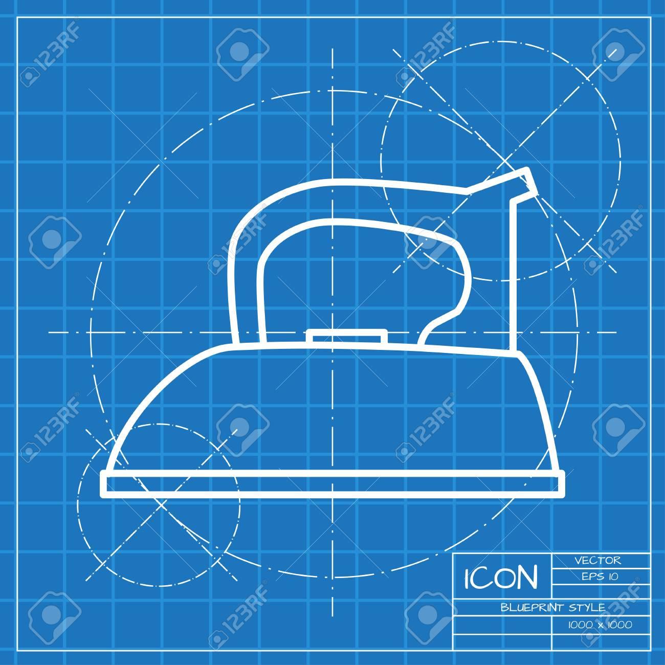 Vector classic blueprint of tailor iron icon on engineer and vector vector classic blueprint of tailor iron icon on engineer and architect background malvernweather Gallery
