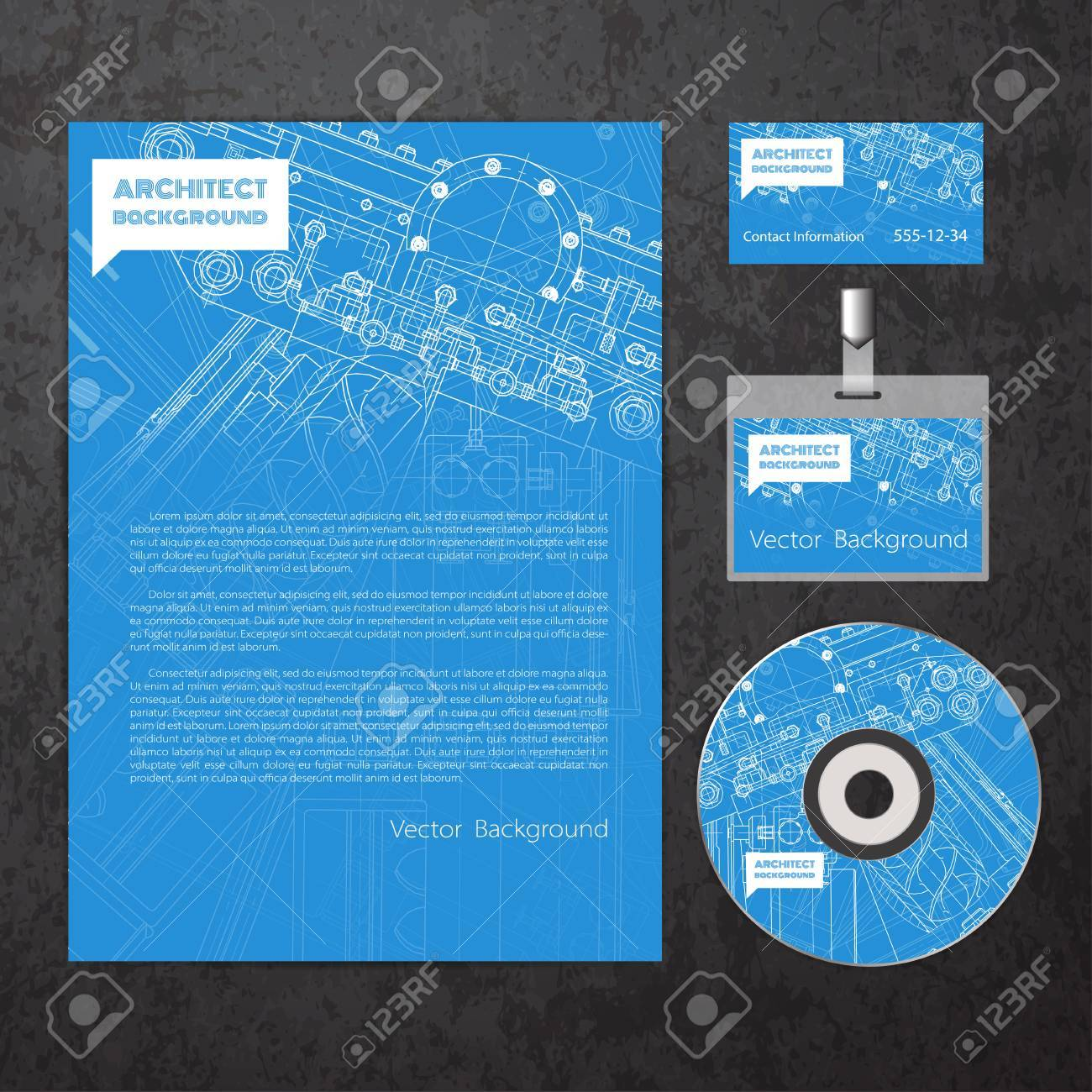 vector technical blueprint of mechanism engineer illustration