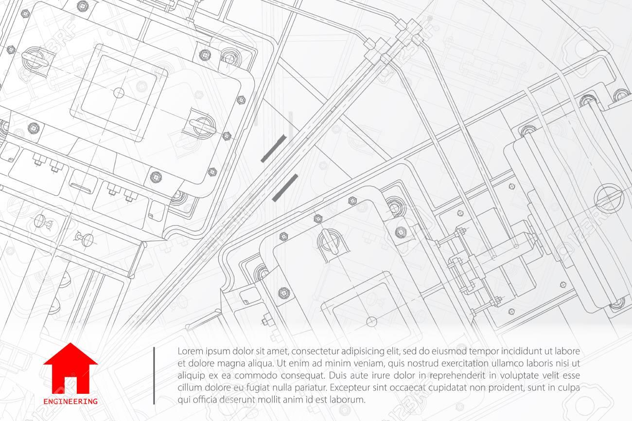 Vector technical blueprint of mechanism engineer illustration vector technical blueprint of mechanism engineer illustration architect background stock vector 48466721 malvernweather Gallery