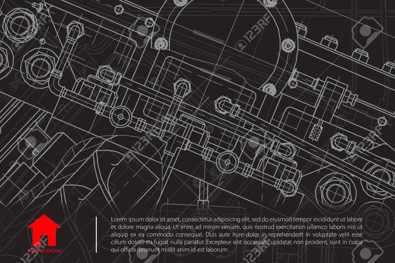 Vector technical blueprint of mechanism engineer illustration vector vector technical blueprint of mechanism engineer illustration architect background malvernweather Gallery
