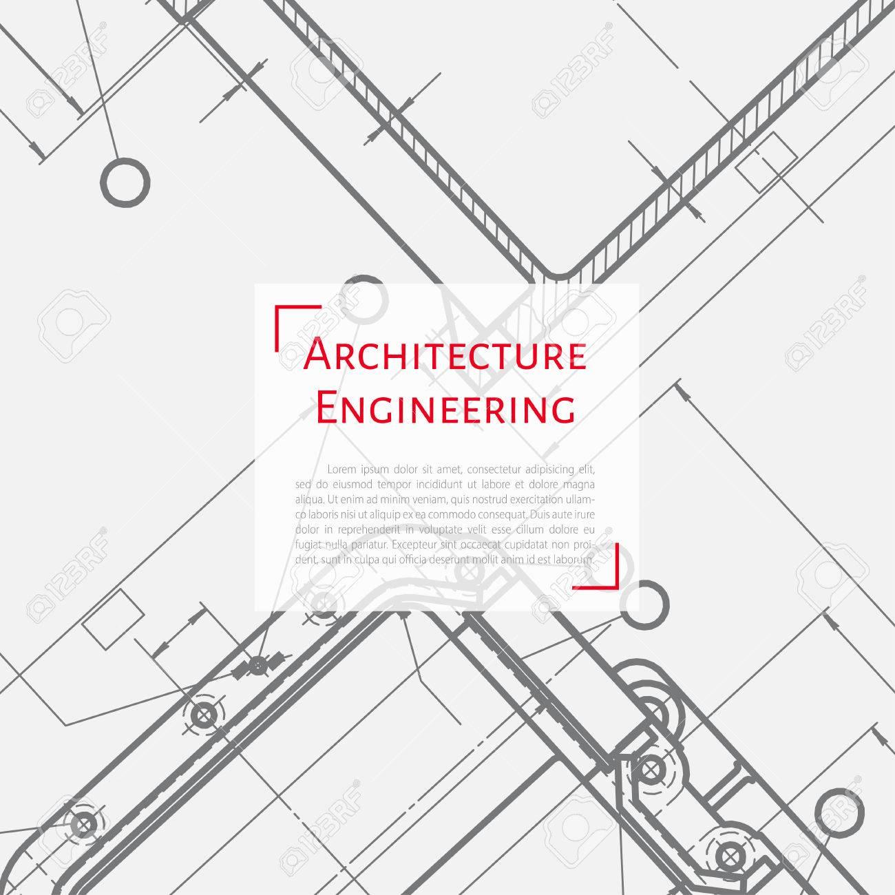 Vector Technical Blueprint Of Mechanism. Engineer Illustration ...