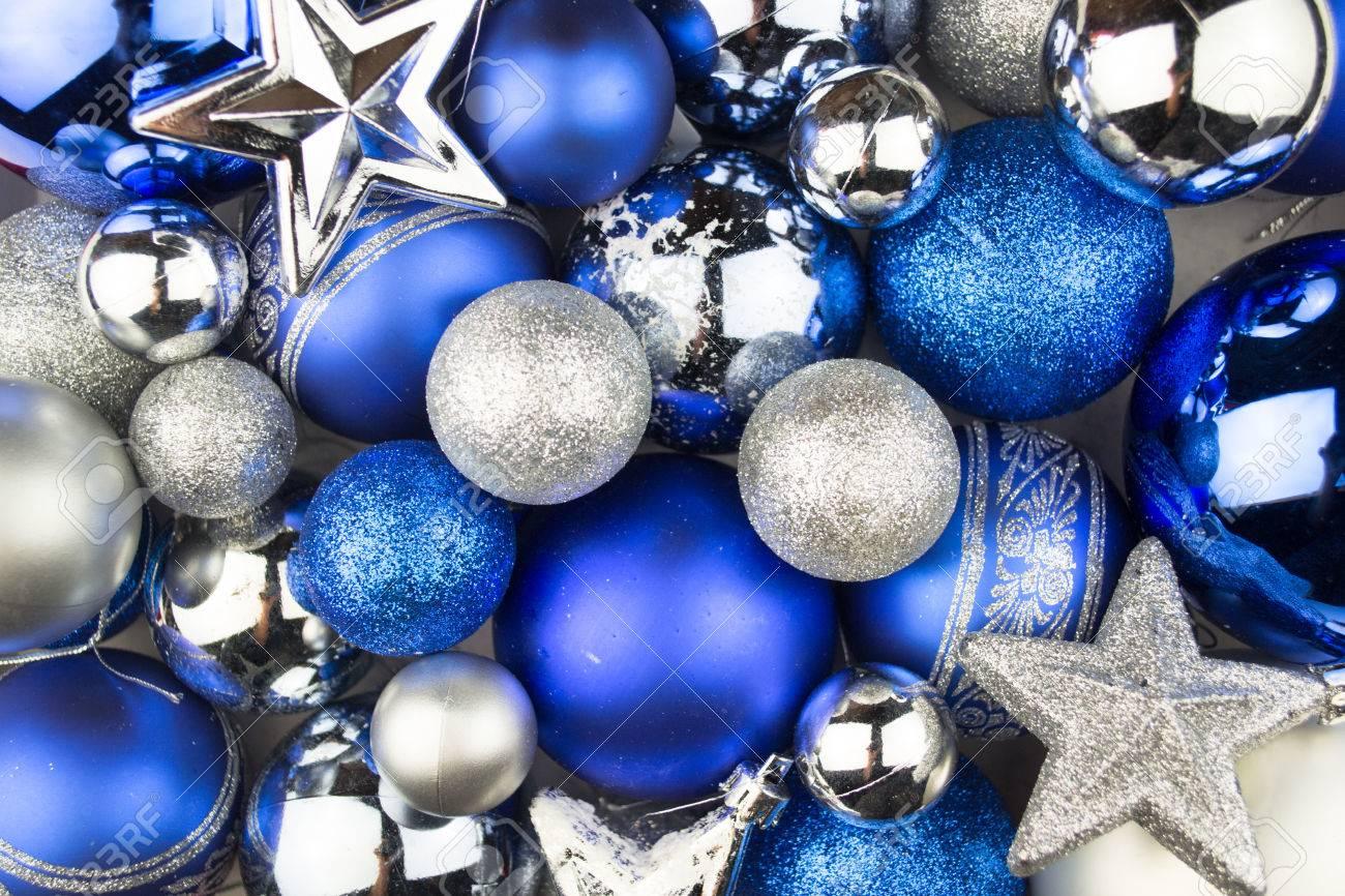 Weihnachtskugeln Blau.Stock Photo