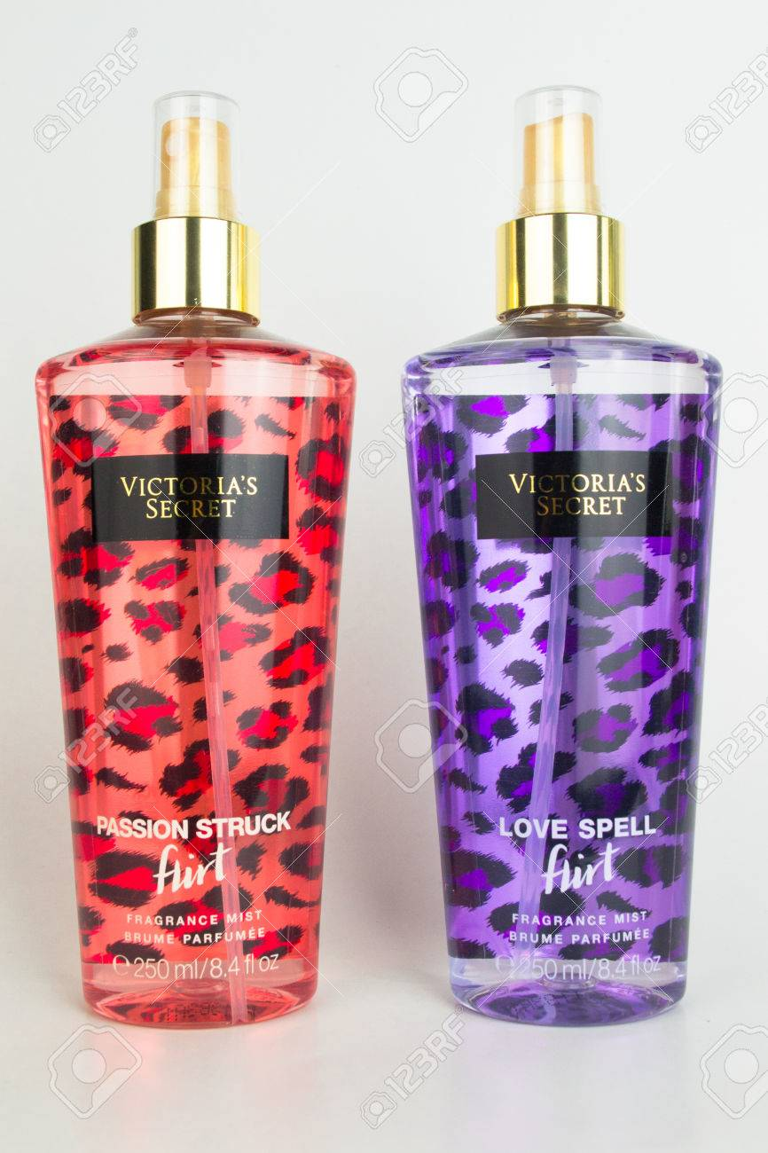 A spray bottle of Victoria's Secret passion struck and love spell