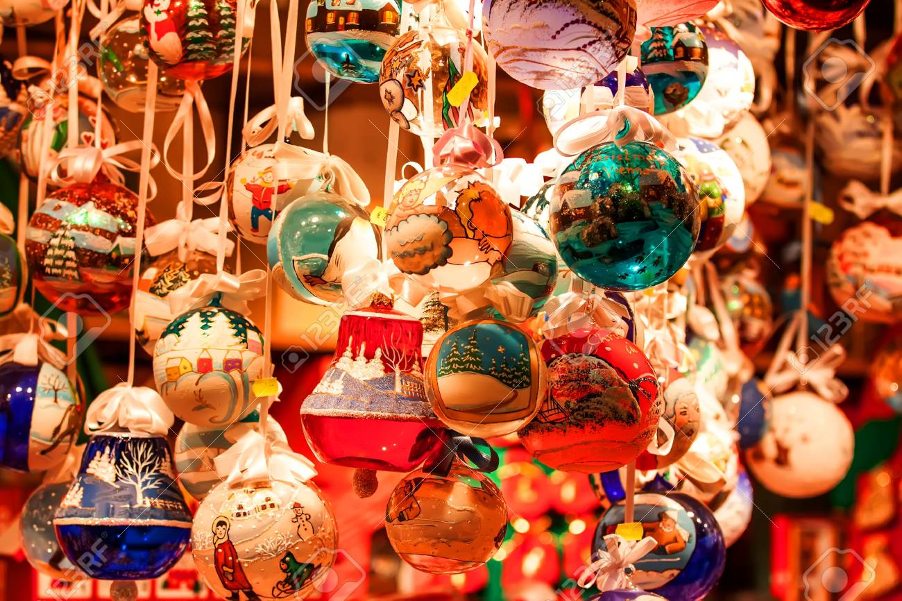 Christmas Decorations On The Market In Vienna Stock Photo, Picture ...