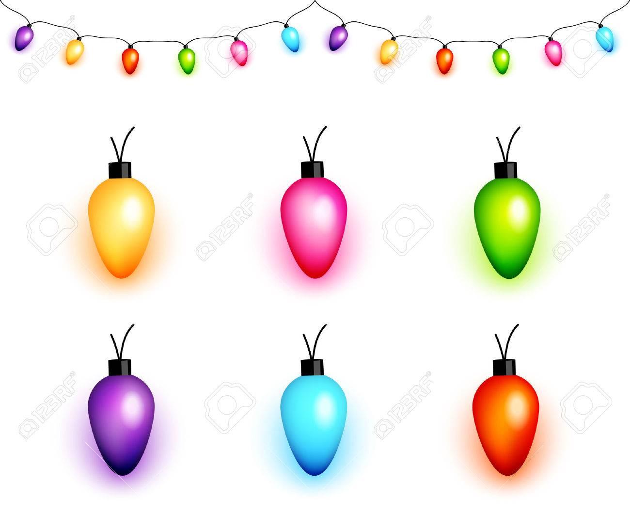 Christmas Light Bulbs.Colorful Christmas Light Bulbs Vector