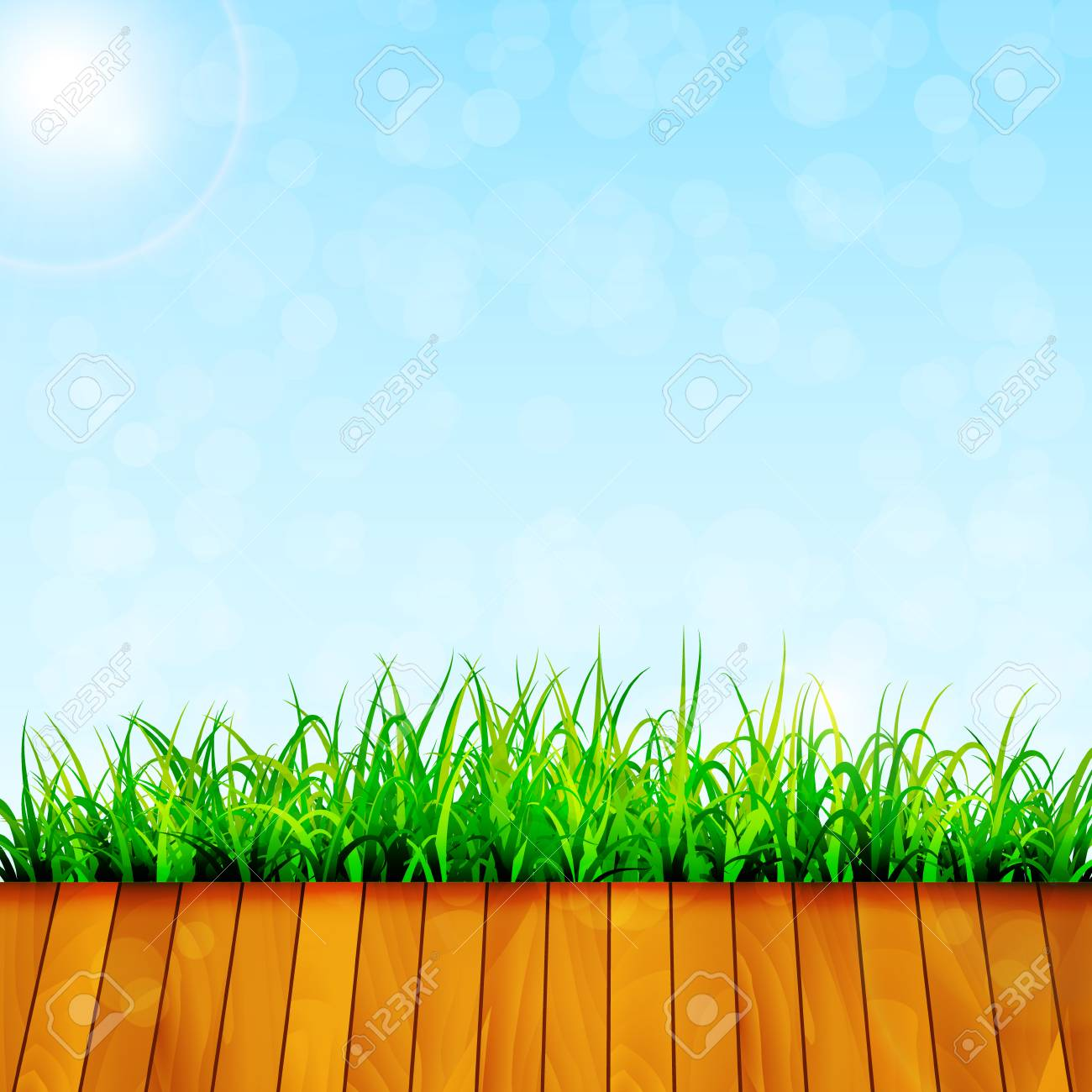 Green garden background