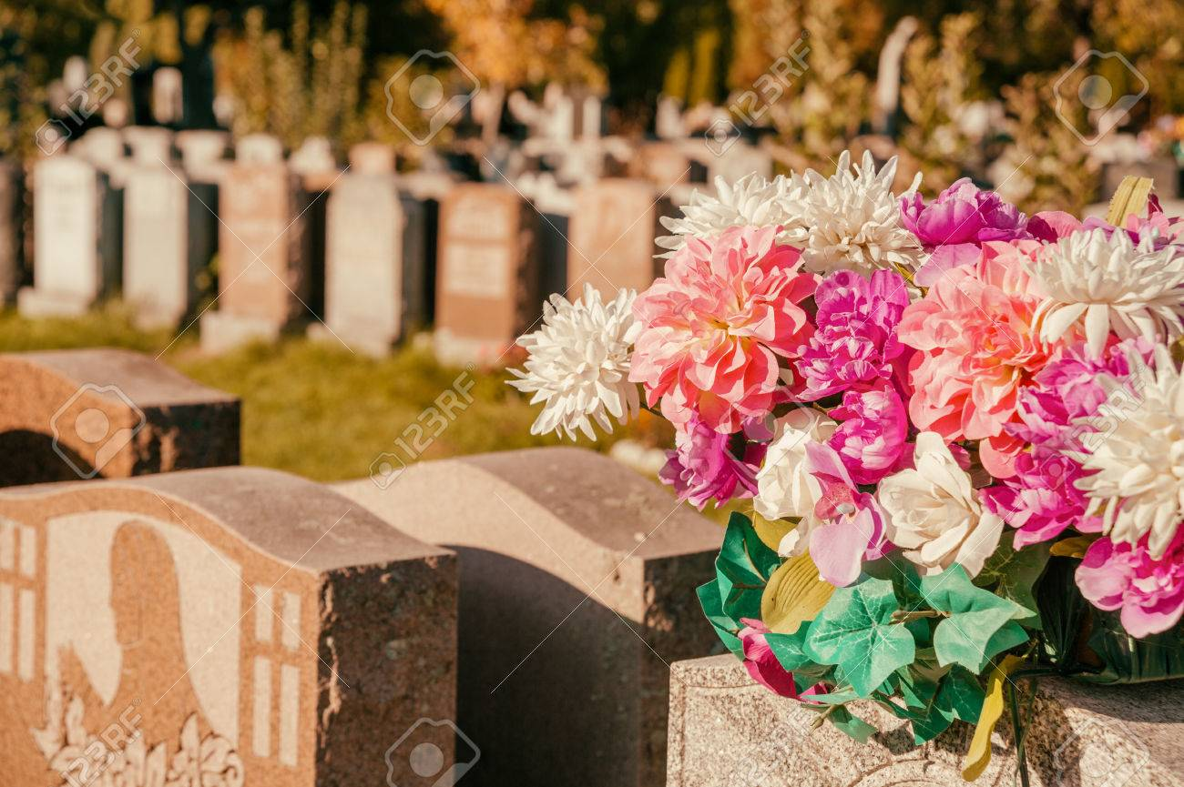 What are the flowers in the cemetery 89
