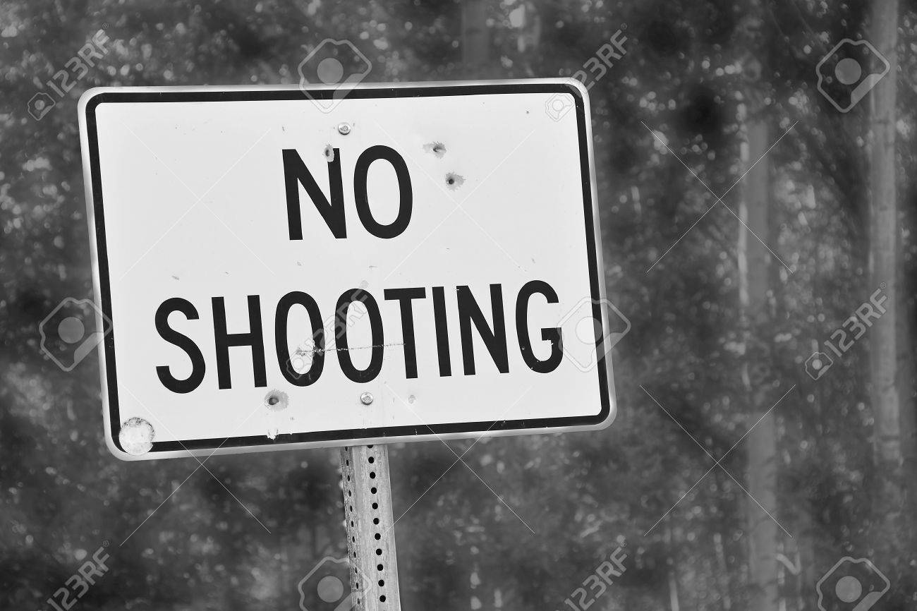 No Shooting sign Stock Photo - 14717830