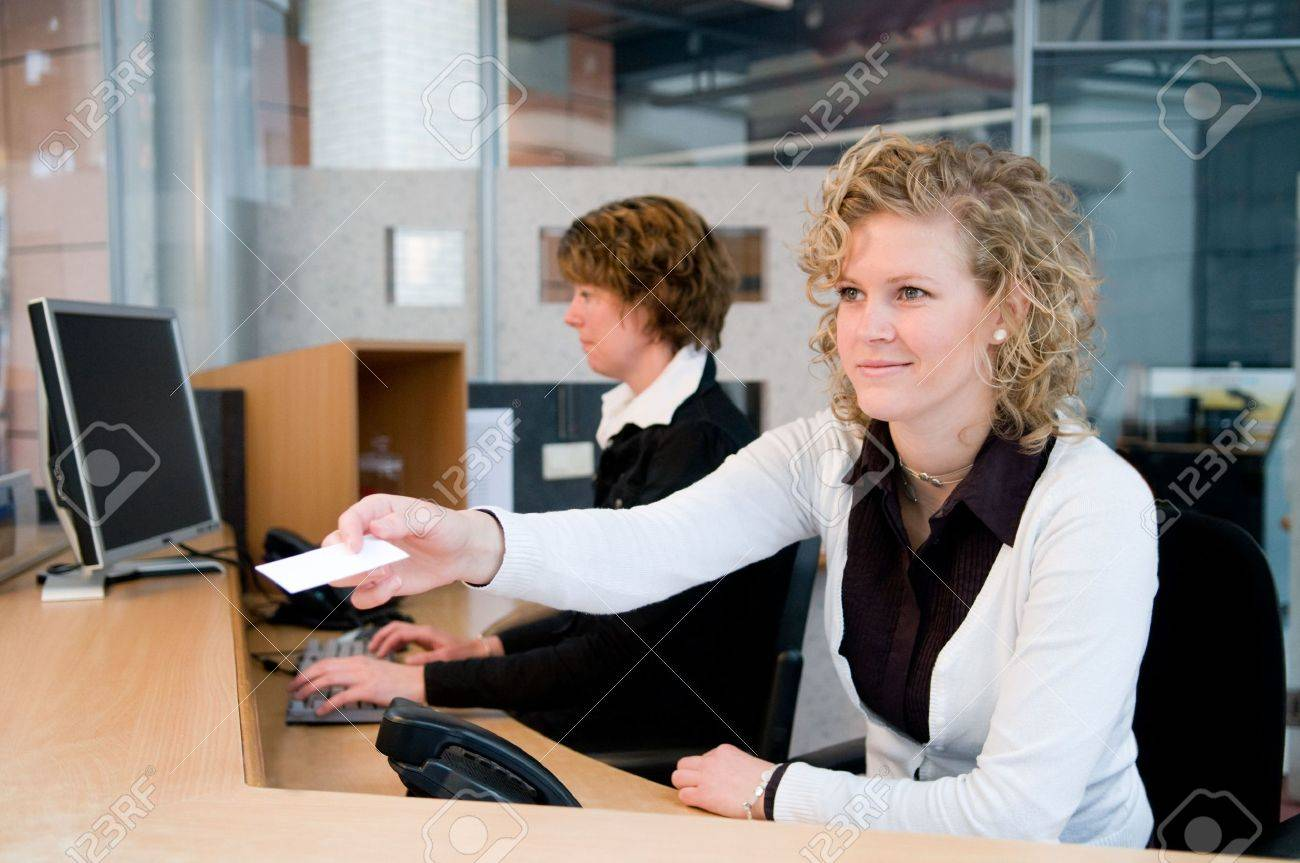 Reception or front desk in an officebuilding Stock Photo - 4718449