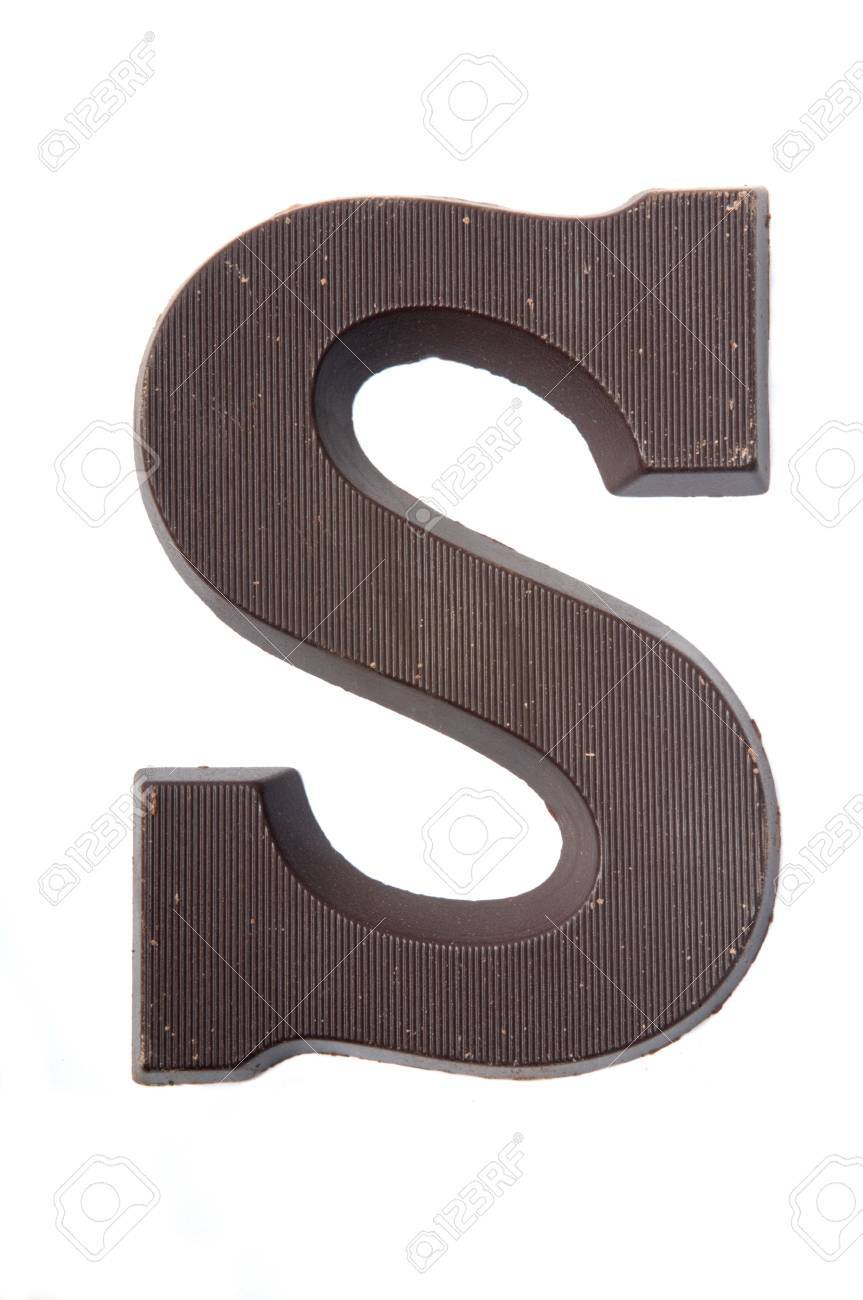 Chocolate letter in the form of an S. Used very often in country's where they celebrate Sinterklaas. Kids get the first letter of their name. S also stands for Sinterklaas. Stock Photo - 5709219