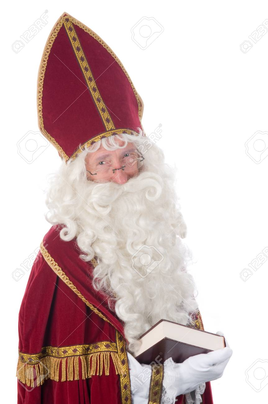 Sinterklaas and his book of children's names Stock Photo - 7845889
