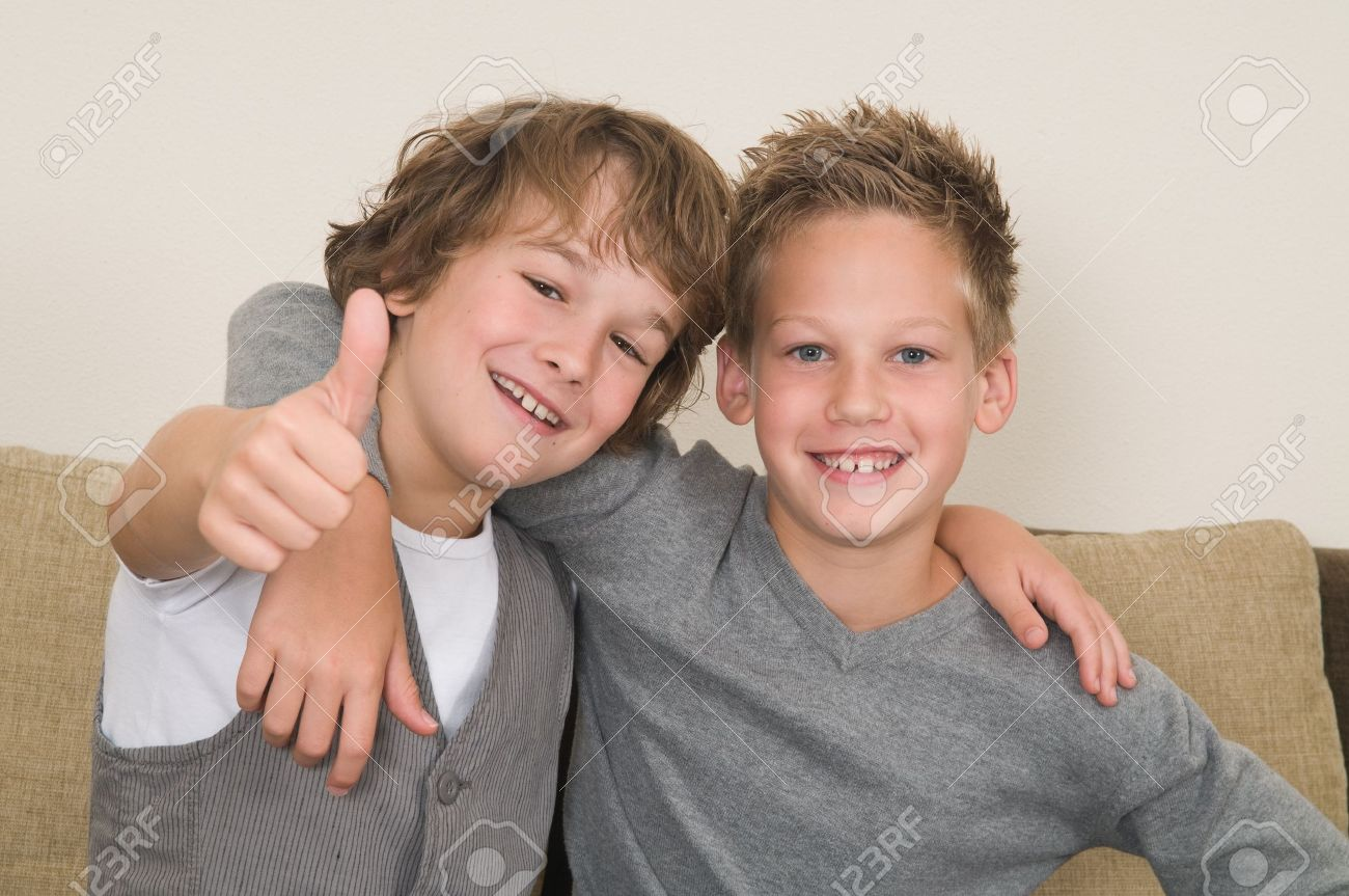 10641291-These-two-boys-are-best-friends
