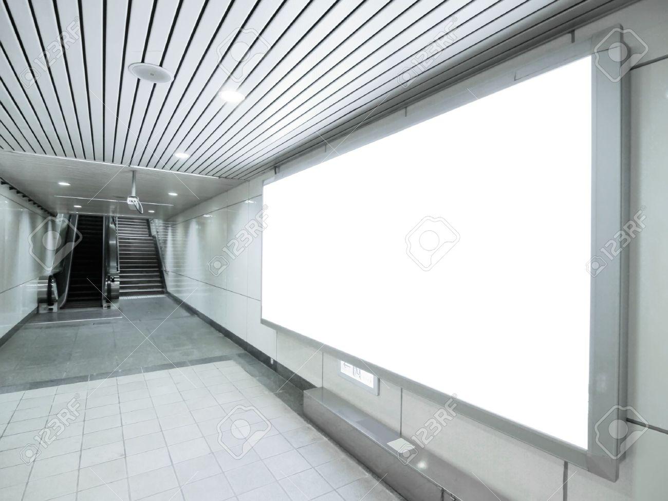 Blank billboard in underground passage Stock Photo - 10348208