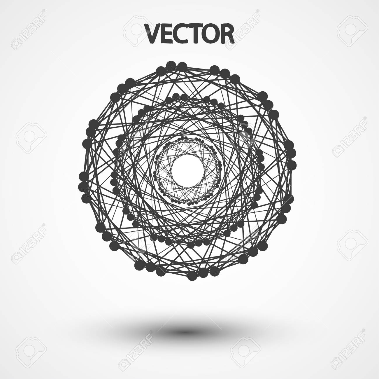 Wire Frame Polygonal Elements Royalty Free Cliparts, Vectors, And ...
