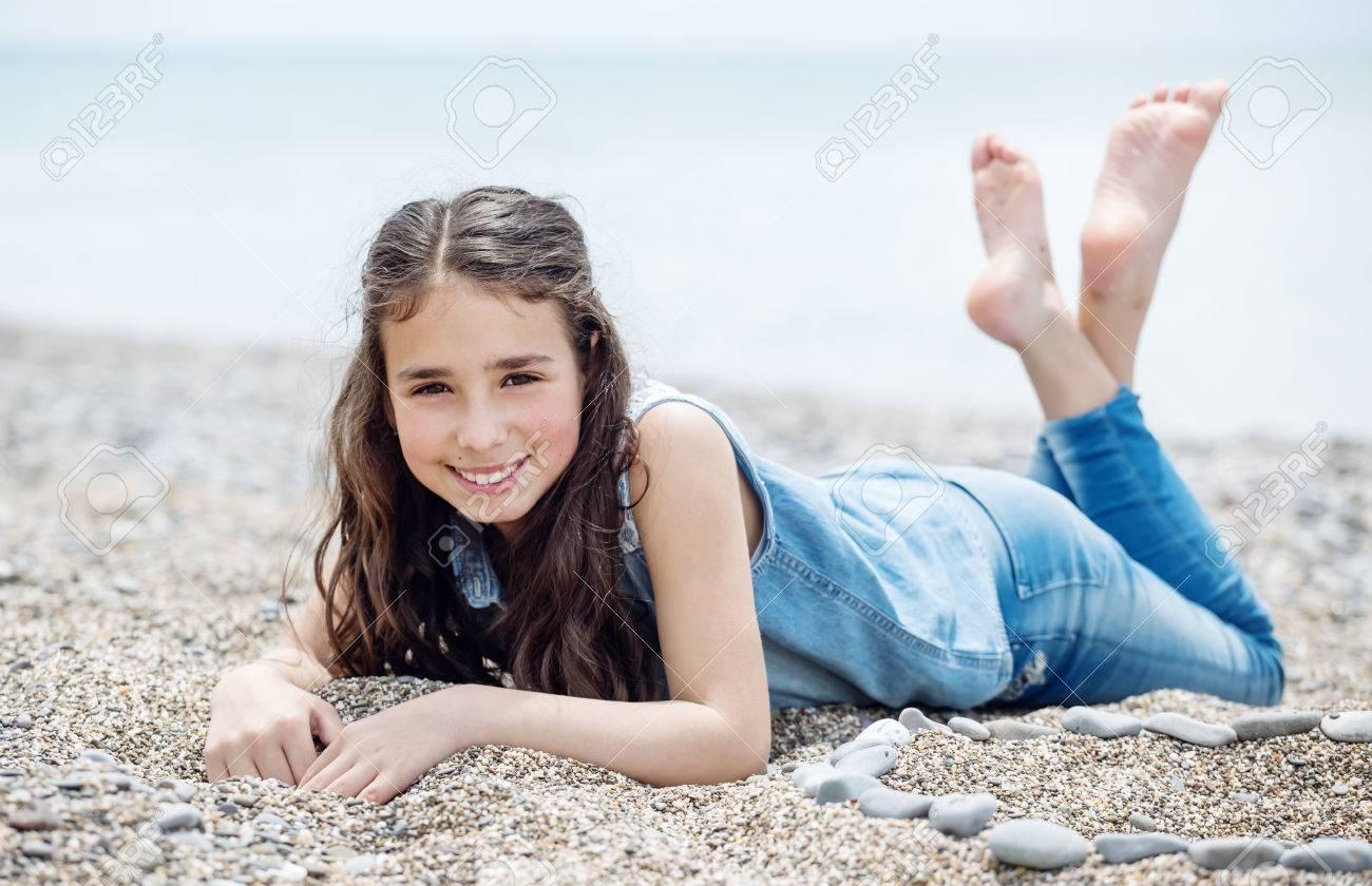 little girl lying