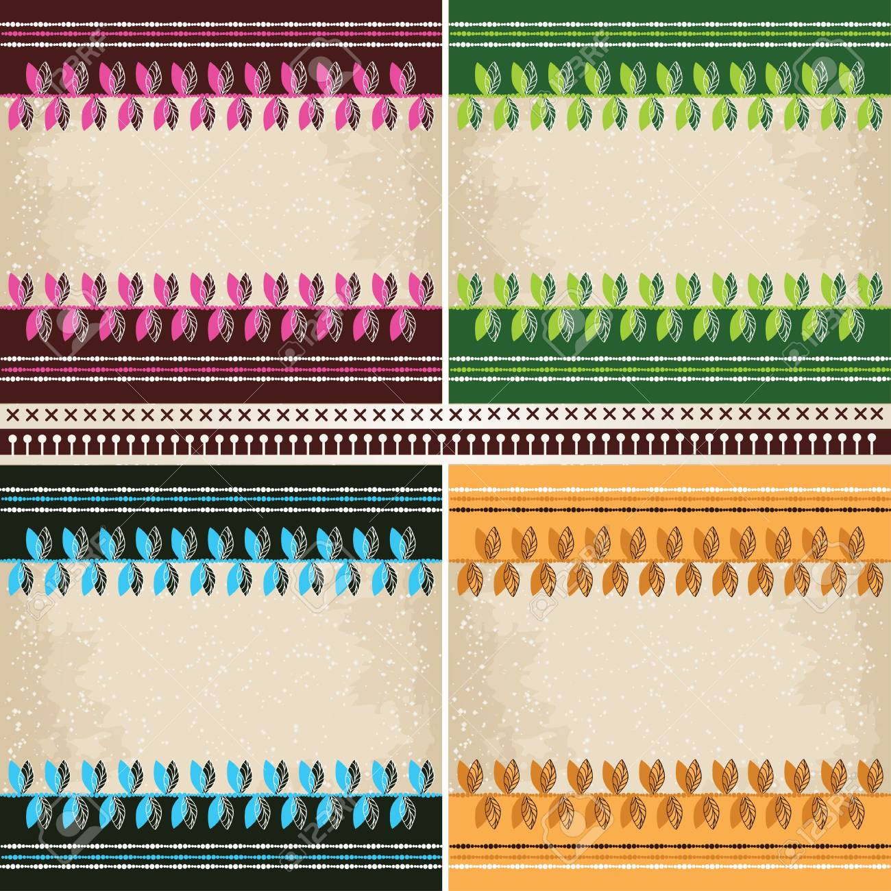 4  patterns set Stock Vector - 17172398