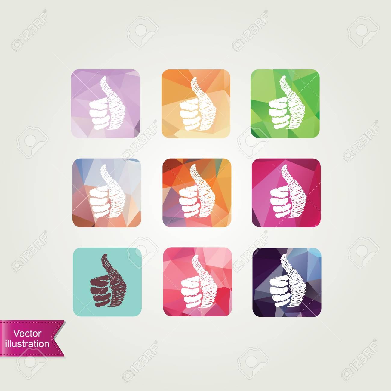 Set like icons illustration Stock Vector - 20190697