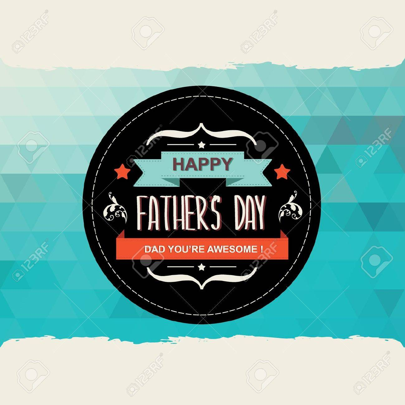 Poster Happy father s day Typography Vector illustration Stock Vector - 21133753