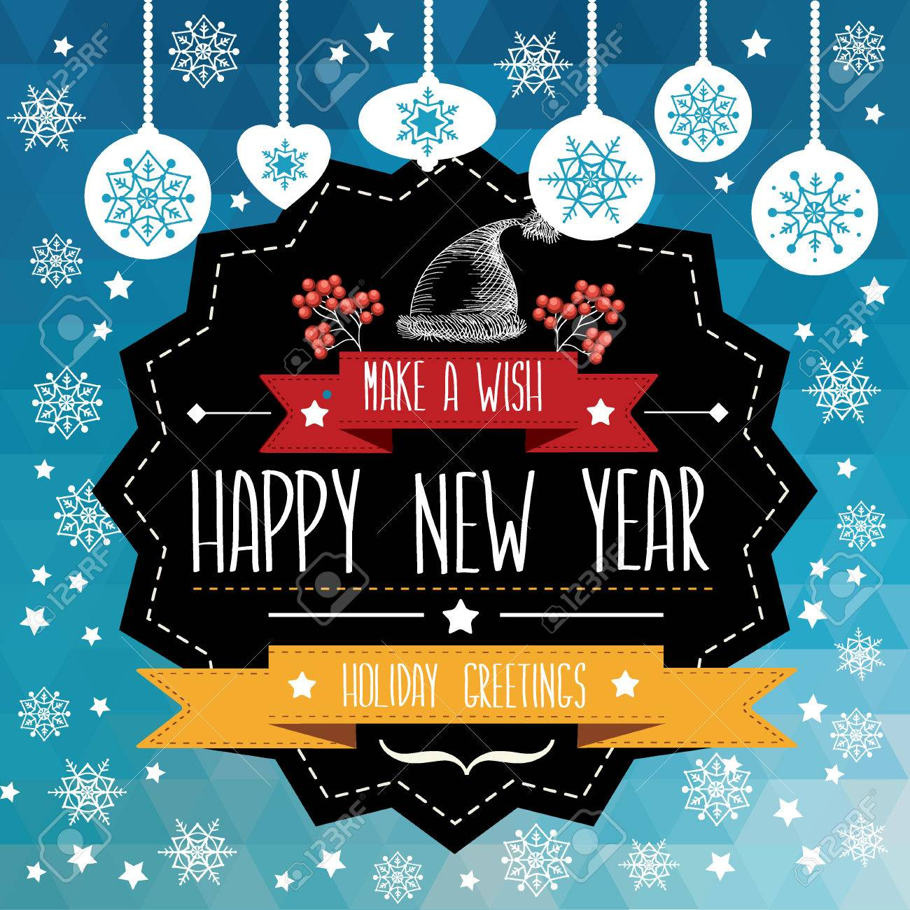 Poster Merry Christmas.Typography.Vector Illustration. Royalty ...