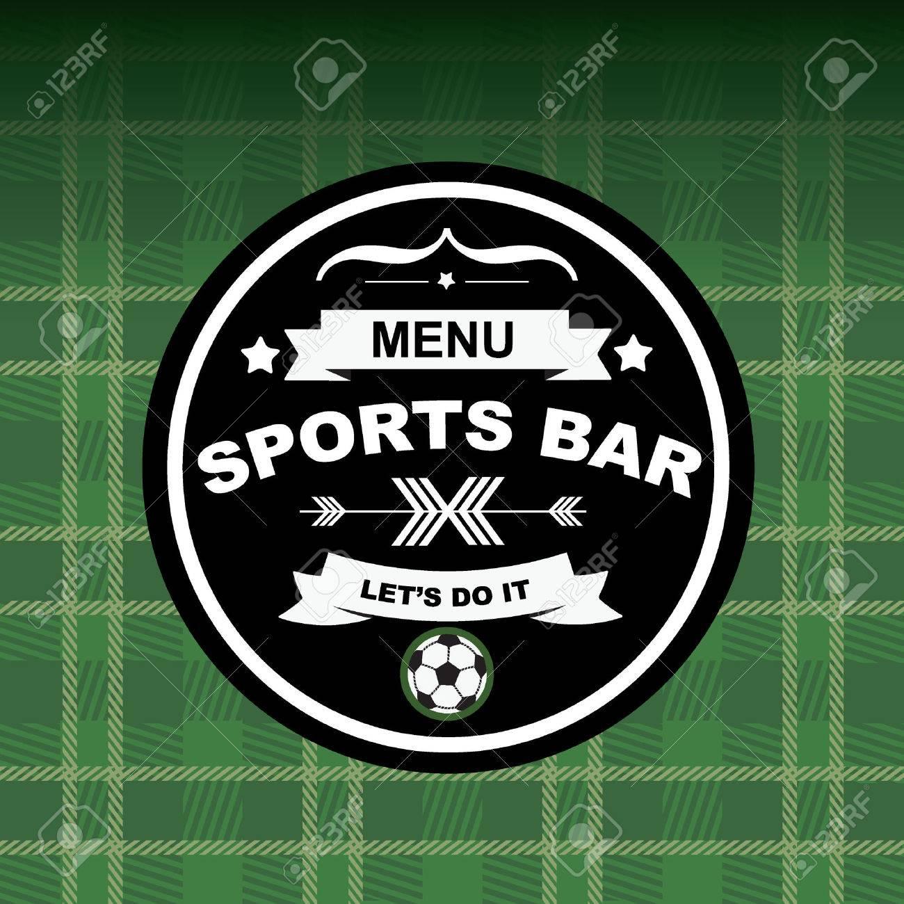 Sport-Bar Menü-Vorlage Design.Vector Abbildung. Lizenzfrei Nutzbare ...