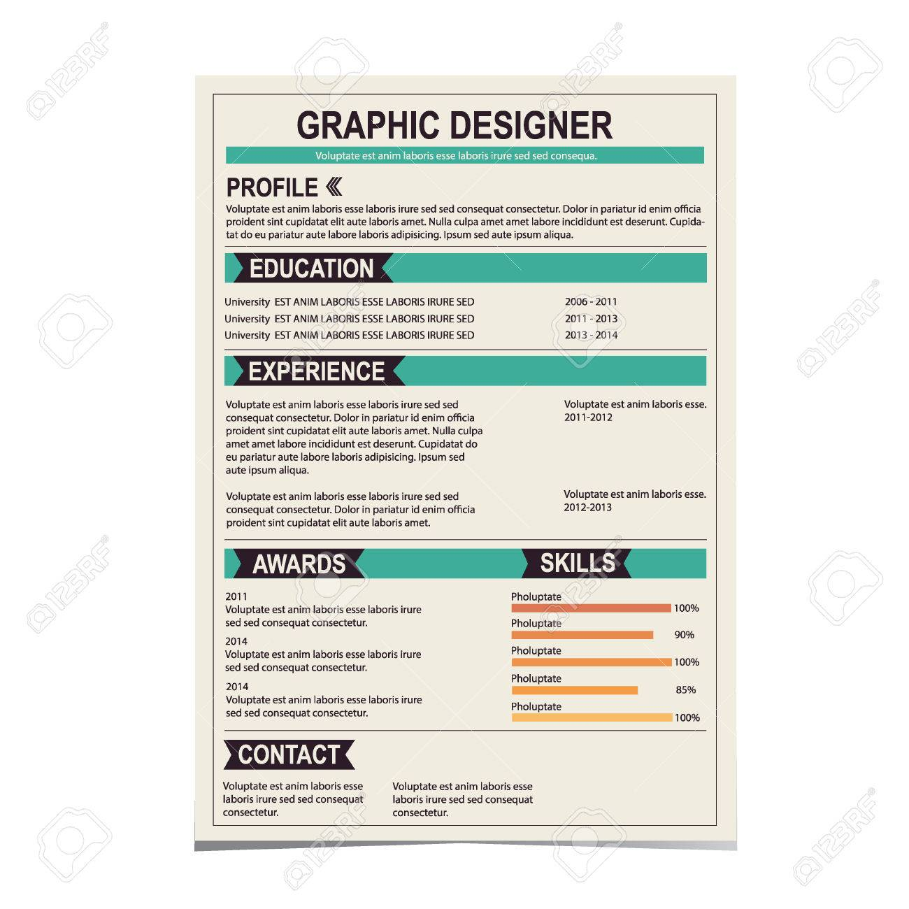 resume template stock photos pictures royalty resume resume template resume template cv creative background vector illustration